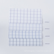 Vérifiez le tissu de bambou de tissu de polyester d'affaires anti-rides