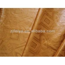 Tela Africana Damasco Shadda Guinea Brocade Bazin Riche Súper hilo de algodón