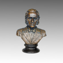 Büsten Statue Musiker Chopin Bronze Skulptur TPE-620