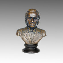 Busts Statue Musician Chopin Bronze Sculpture TPE-620