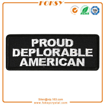 Proud Deplorable American patch embroidered