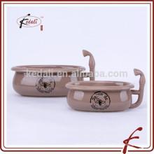 Nova forma mini cerâmica banheira saboneteira
