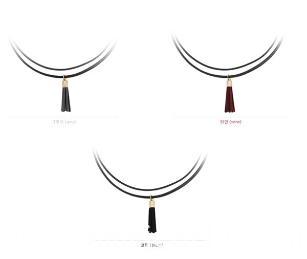 Double Layered leather necklaces