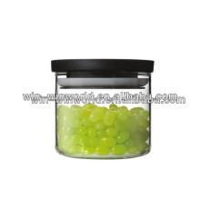 Здоровые изготовленные на заказ герметичность герметичный стеклянный Опарник хранения с пластиковой крышкой и герметичной кольцо