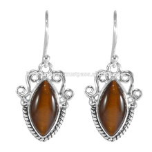 Tiger Eye Gemstone 925 Sterling Silver Earring