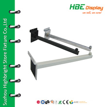 Powder coating slatwall straight arms with ball end
