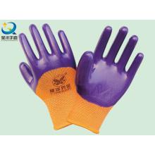 Polyester-Shell-Nitril beschichtete Sicherheits-Arbeitshandschuhe (N6011)