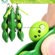 3 PCS Squeeze-a-Bean Alívio do estresse de soja Keychain Fidget Toys