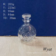 200ml Aroma Diffuser Glass Bottles with Glass Lid for Wholesale