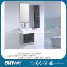 Cabinet de salle de bain en acier inoxydable miroir Vanity Wall Hung avec certificat