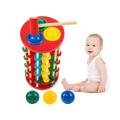 Dreidimensionales hölzernes Schlagspielzeug für das hölzerne Kind erziehen Spielzeug