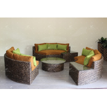 Ensemble de canapé à la vapeur d'eau hyacinthe naturelle pour salle de séjour