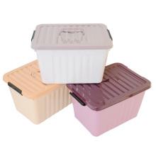 Caja de almacenamiento de plástico de tamaño pequeño con mango (SLSN005)