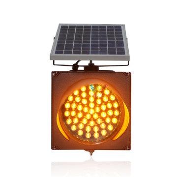 road construction 200mm solar amber flashing warning light
