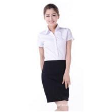 Kundenspezifisches kleines Taillen-V-Ausschnitt-Hemd, Geschäfts-langes Hülsen-Hemd