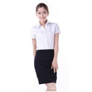 Custom Small Waist V-Neck Shirt, Business Long Sleeve Shirt