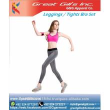 Damen Sport tragen Sport Top und Hosen setzen Strumpfhosen BH Leggings kurz