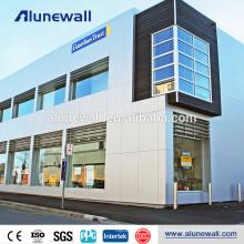Panneau composite de décoration murale en aluminium panneau composite