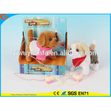 Hot Sell Kids 'Toy Beautiful Walking Electric Skip Peluche Chien gris