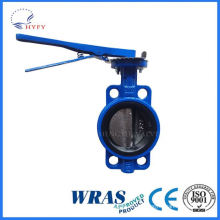 A variety of capacity ductile steel hand lever wafer butterfly valve