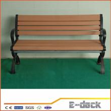 Duradera larga vida útil de uso Wpc madera de plástico compuesto banco decking