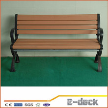 Durable long usage lifespan Wpc wood plastic composite bench decking