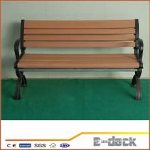 Durável longo tempo de vida útil Wpc plástico composto de madeira plataforma decking
