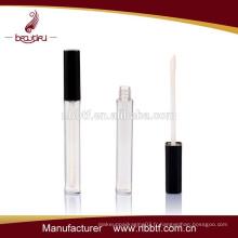 Slim tube plastique brillant à lèvres pour emballage cosmétique