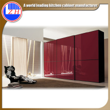 European Modern Style Bedroom Closet Wood Wardrobe Cabinets (ZHUV)