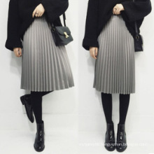 Wholesale Women′s Wear Ladies Fashion Pleated Skirt