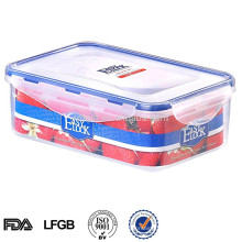 rectangular food plastic crisper box with lid for fresh