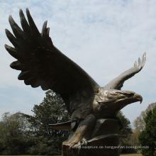 Bronze Gießerei Metall Handwerk große Bronze Adler Skulptur für Garten
