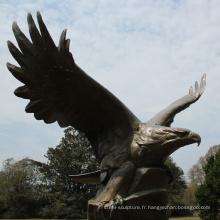 fonderie de bronze artisanat en métal grande bronze sculpture d'aigle pour jardin