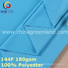 Weft Knitted Polyester Polar Fleece Fabric for Clothes (GLLML382)