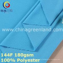 Утка трикотажная полиэфирная ткань флиса для одежды (GLLML382)