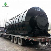 Laufende Anlagen XinXiang HuaYin Abfall / benutzte Plastikpyrolyse-Anlage, um in Rumänien, Italien, der Iran, Kolumbien zu ölen