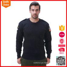 Suéter militar del ejército del mens de las mangas largas de la alta calidad