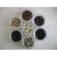 Micro anneaux de silicium bon marché, micro anneaux pour l'extension de cheveux en gros
