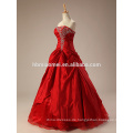 2017 neue hochwertige schulter rote spitze hochzeitskleid mit diamant