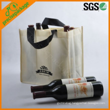 eco recycled cheap pp non woven wine bottle carrying bag