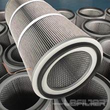 Cartouche filtrante en polyester antistatique pour le dépoussiérage