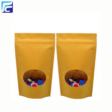 Ziplock kraft paper bag with clear window