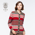 Cardigan in puro cashmere Fair Isle da donna