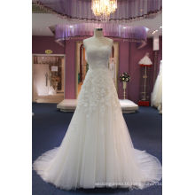 Strapless A Line Lace Beading Wedding Bridal Dress