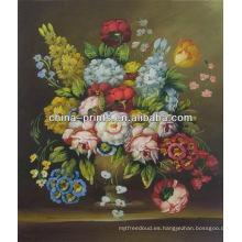 Pintura al óleo hecha a mano de la nueva flor del arte