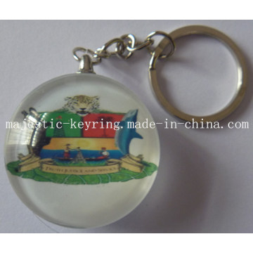 Plastic Keychain with Customized Photo Done Logo (Hz 1001 K036)