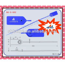 pull-tite seal BG-S-002 pull tight seal,seal tag,plastic string seal tag,security seals plastic,pull tight plastic seal
