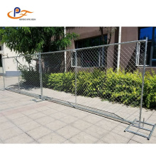 Outdoor Silver Painted Removable Concrete Temporary Fence