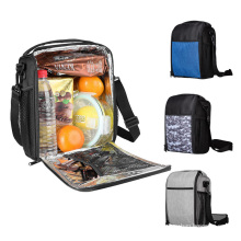 Fashion Thermal Food Cooler Bag custom polyester tote gym meal lunch bag for men