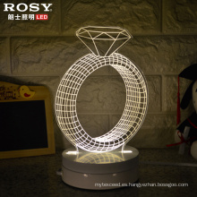 Luz de noche LED lámpara decorativa 3D de Navidad/Halloween